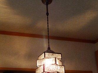 【照明】ステンドグラス、ペンダントライト,4段重ねの画像