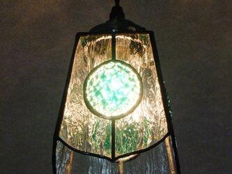 【照明】ステンドグラス、ペンダントライト,グリーンの画像