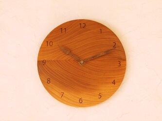 掛け時計 丸 ケヤキ材36の画像