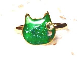 猫型リングフリーサイズキミドリの画像