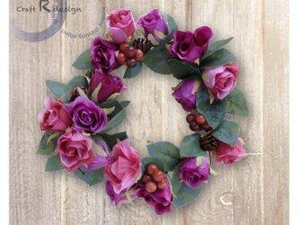 薔薇のリース fw-10の画像