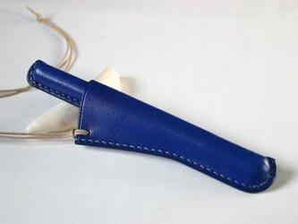 革ペンペンダント 青の画像
