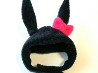 黒ウサギのかぶりもの(帽子)【S/M/L】の画像