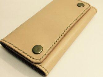 革のiphone7,6s,6ケース に natural(刻印無料)の画像