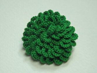 うろこブローチ  緑の画像