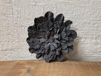 革花のブローチピン 2Lサイズ グレー-1の画像