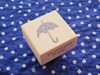 消しゴムはんこ「こうもり傘」の画像