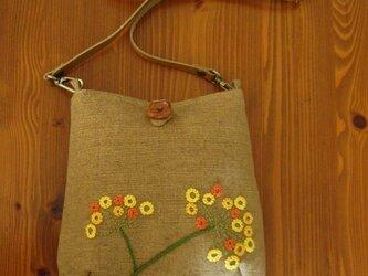 手刺繍ポシェット(ohana)の画像