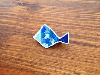 刺繍ブローチ 「サカナ」の画像