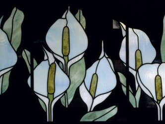水芭蕉のステンドグラスの画像