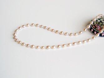 淡水パール 淡いピンクのネックレスの画像
