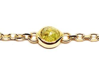 K18ローズカットカラフルダイヤのブレスレット【Pio by Parakee】rose diamond braceletの画像