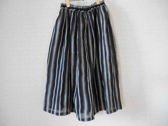 夏の薄着物のリメイクスカートの画像