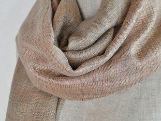 手織り「ふんわりストール ~やさしいピンク色~」の画像