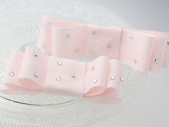 【親子お揃いプレゼント】ジュメル神戸国産バレッタ大小2個セットマカロンピンクの画像