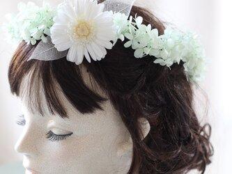 ガーベラの花冠 ヘアドレス プリザーブドフラワーの画像