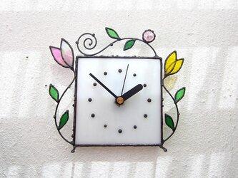 ステンドグラス*掛け&置き時計・アラベスクmの画像