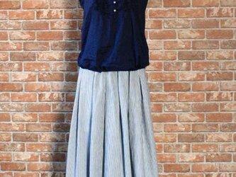 ヒッコリーストライプ タックギャザースカートの画像