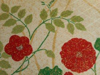 染見本生地 赤い花の画像