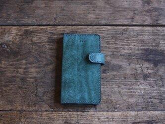 iphone SE ・5 jaket ターコイズの画像