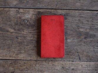 iphone SE ・5 jaket  レッド×キナリの画像