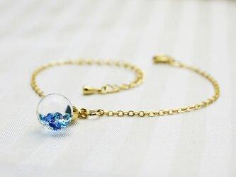 Bijou glass Ball Bracelet ブルー系カラーの画像