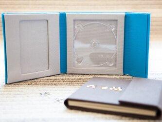 写真が入る帆布のCD/DVDケースの画像