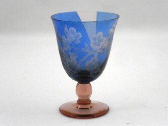 夜桜ワイングラスの画像