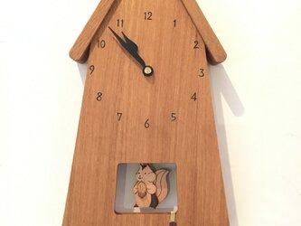 Y様ご注文 留守番ネコの振り子時計 大きいサイズ+リスの画像