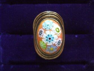 銀七宝 ミルフィオリ 指輪 小判・大の画像