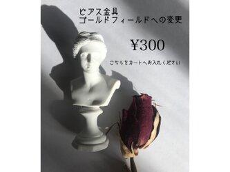 ピアス金具の交換の画像
