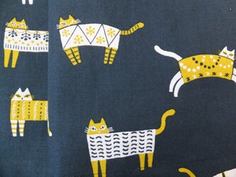jupe de chat-bleu 猫のネイビースカートの画像