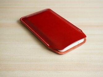 iPhone レザー スリーブケース レッド(XS/X/8/8Plus/7/7Plus/SE/6/6s/6Plus)の画像