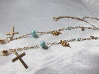 十字架と天使のグラスコードの画像