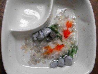 金魚の棲むアクセサリートレイ「夕凪と朝霧」の画像
