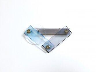 TOOLS ブローチL ブルー×グレーの画像