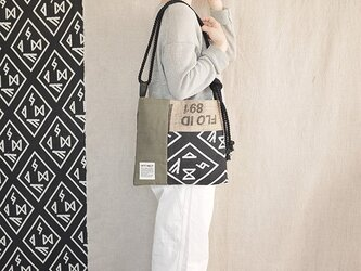 Coffee patchwork bag02-a (S)の画像