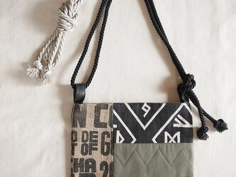 Coffee patchwork bag02-b (S)の画像