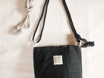 quilting patchwork bucketbag (black)の画像