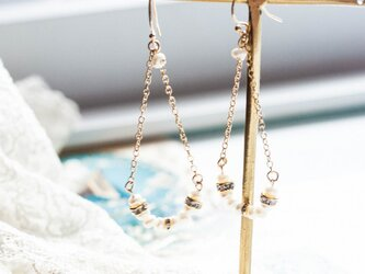 【14kgf】Pearl淡水パールTearchainピアス(イヤリング)の画像