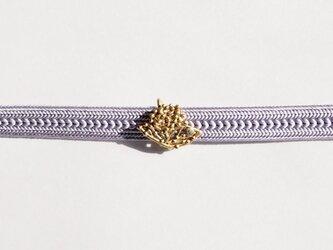 紫陽花(あじさい)アクアマリンのミニ帯留の画像