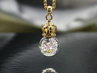 Bijou glass ball Gold Crown S Pendant ライトストーンカラーの画像
