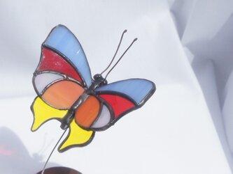 ステンドグラス スゥイングオーナメント 「蝶-1」の画像