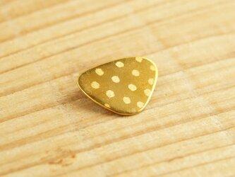 真鍮ブローチ sankaku dot B003の画像