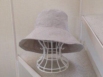 亜麻色 リネン キャプリーヌ帽子 60cmの画像