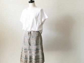 リネンクロシェットスカートの画像