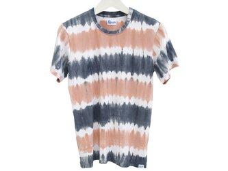 メンズタイダイクルーネックストレッチTシャツ <サンセットビーチ> サイズSの画像