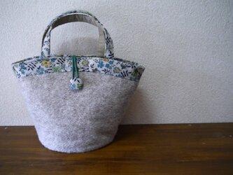 バケツ型バッグ★ライト杢グレーの画像
