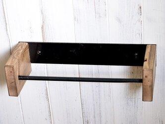 キッチンペーパーホルダー ウッドXアイアン 無塗装の画像