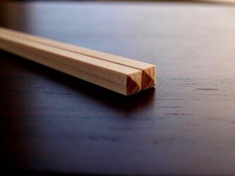 こども用 お箸 (ひのき材)の画像